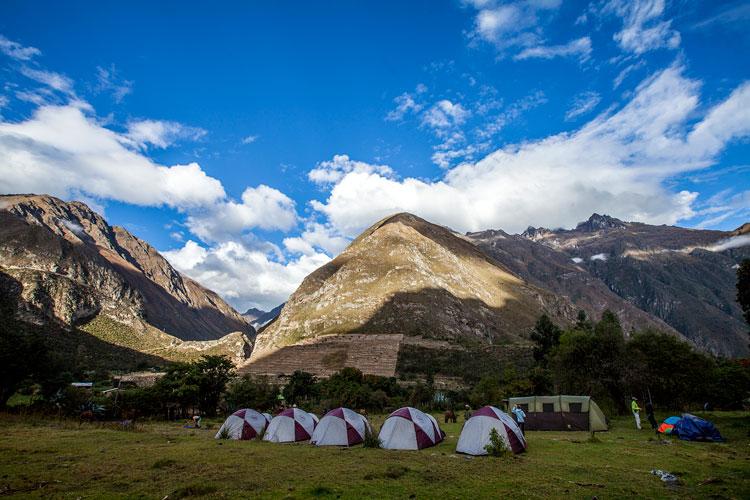 camping areas chamana inca trail