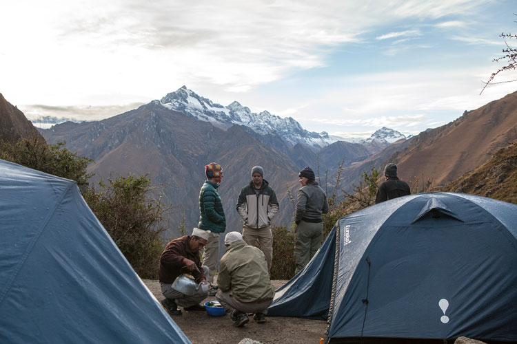 inca trail our camping areas