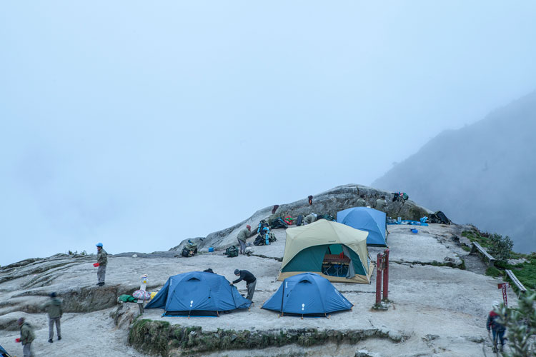inca trail village above clouds