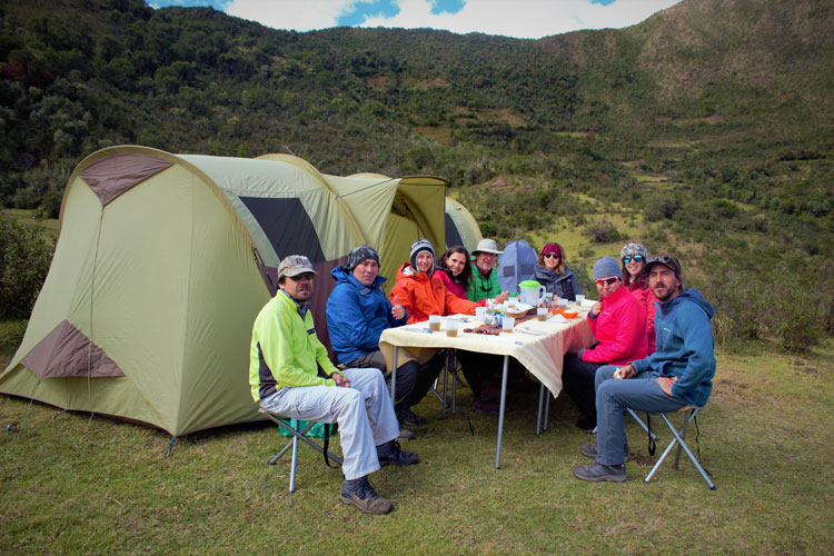 lunch salkantay trek cusco peru